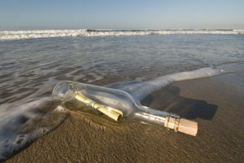 Message  in a bottle .... da Marx.